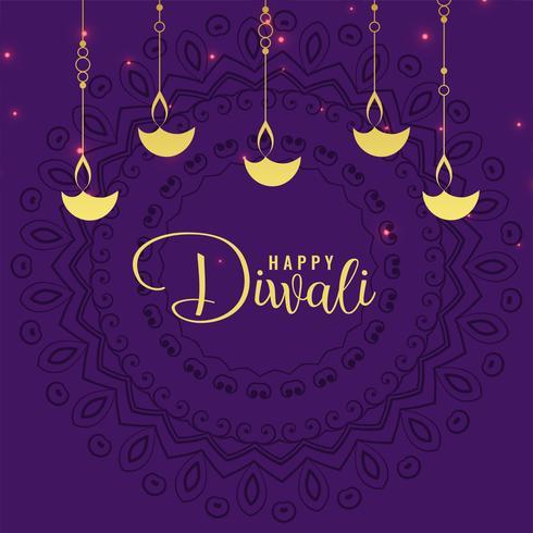 stilvoller Diwali Festivalgruß-Designhintergrund