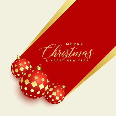 beautiful christmas balls decoration background