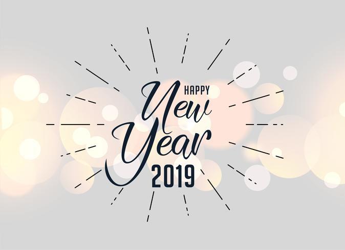 feliz ano novo 2019 fundo de saudação de feriado