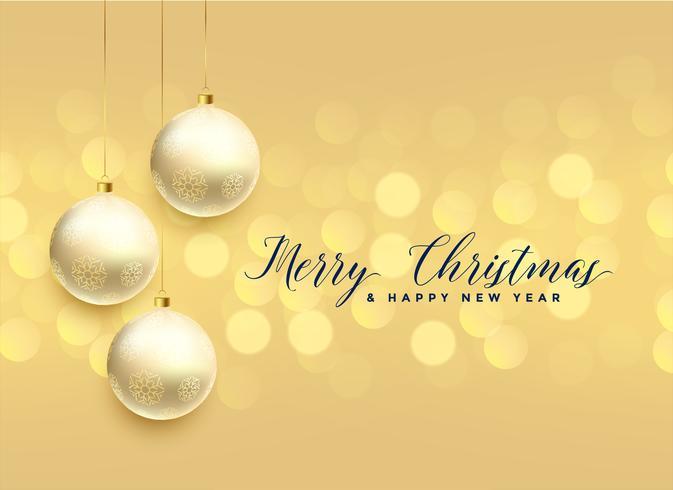 schöne Weihnachtskugeldekoration Bokeh Hintergrund