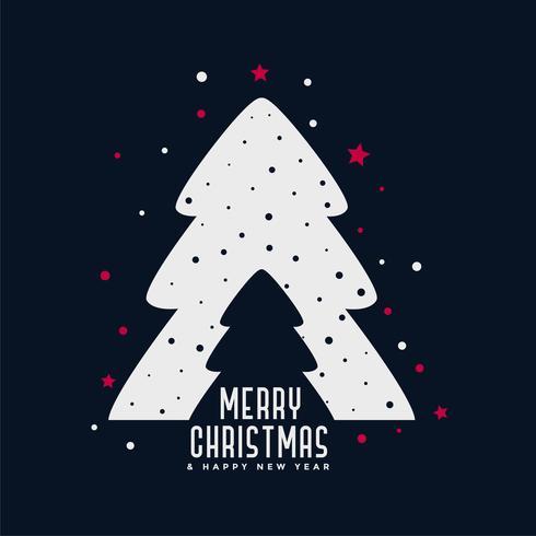 Weihnachtsbaum kreativer Designhintergrund
