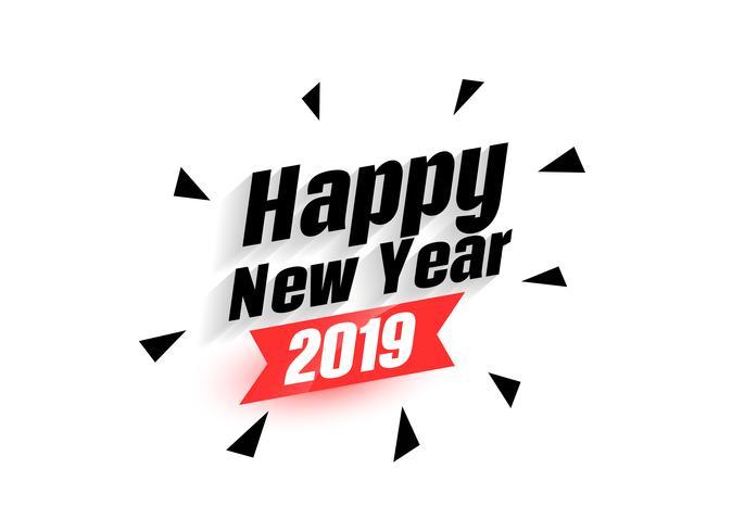 felice anno nuovo 2019 sfondo astratto