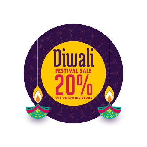 banner de venta creativa para celebración de festival de diwali