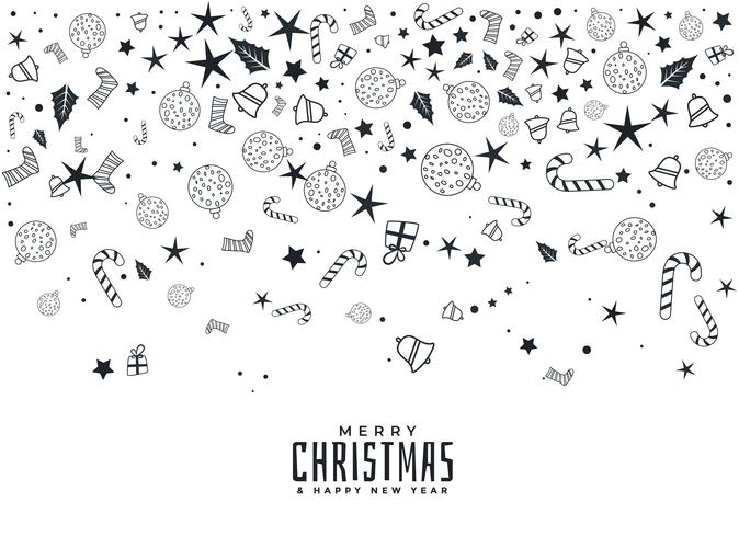 composition of christmas elements on white background