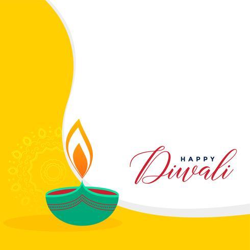 creative flat style diwali greeting background