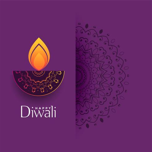diwali artística saudação com decoração de mandala