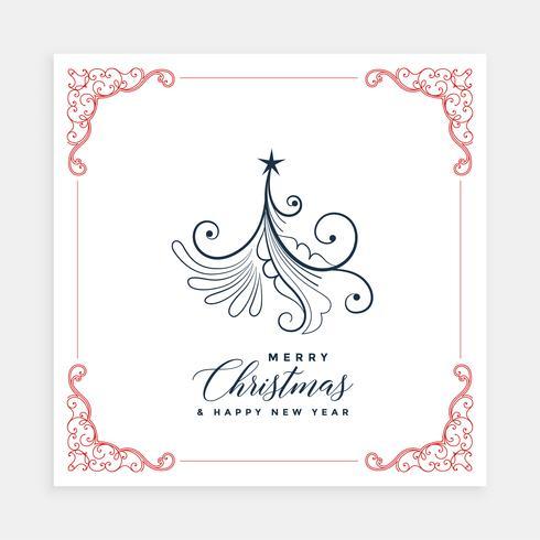 modelo de design de cartão de árvore de Natal criativa