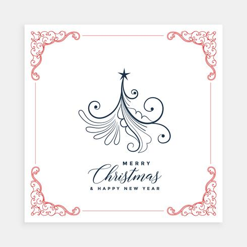 creative christmas tree card design template