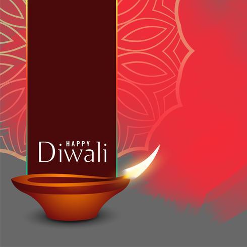 fundo de saudação de celebração de férias diwali abstrata