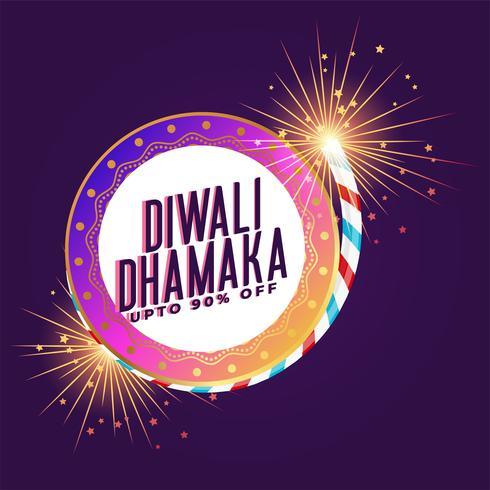 festival de diwali grande vente et offre modèle de fond