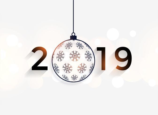 bonne année 2019 fond décoratif