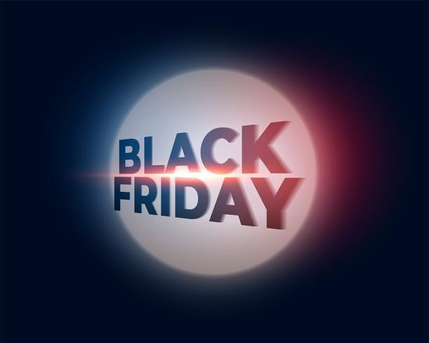 glowing black friday background design