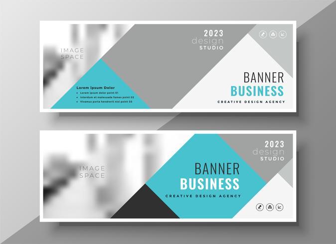 banners de negócios abstratos criativos design elegante