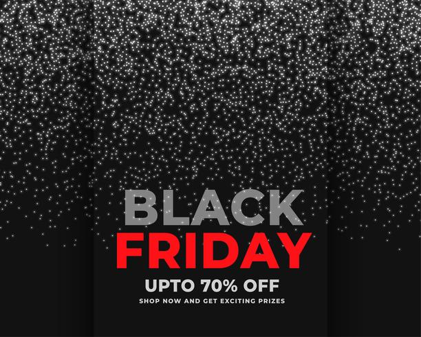 Resumo sparkles bandeira de venda sexta-feira negra