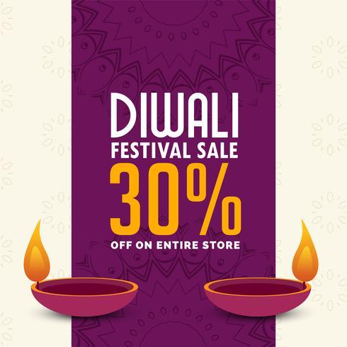 diwali sale poster design with two diya