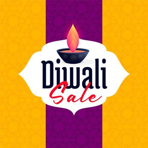 Diseño de banner de plantilla de venta de diwali para temporada de festival