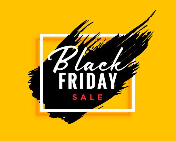 Fondo de viernes negro moderno con efecto tinta