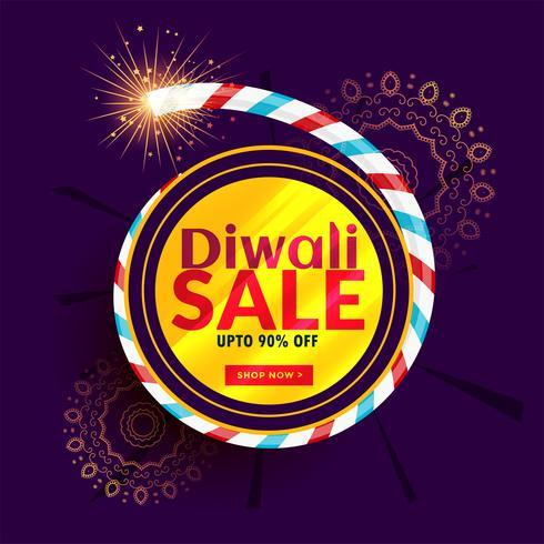 design de cartaz de venda diwali com bolacha