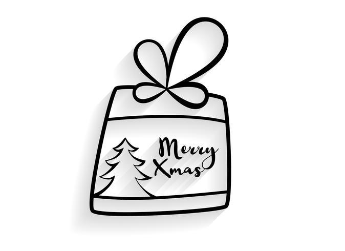 Fondo de regalo de Navidad dibujado a mano