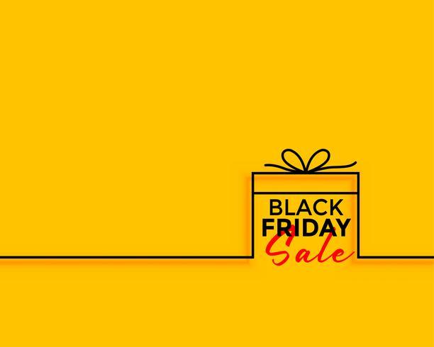 Fondo de venta de regalo de viernes negro mínimo