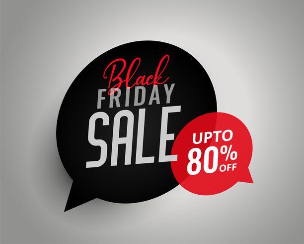 schwarze Freitag Verkauf Chat Blase Vorlage