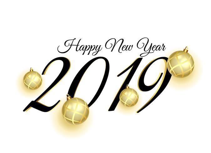2019 happy new year card design