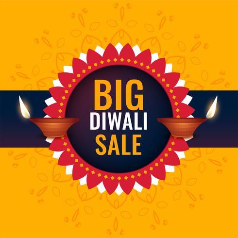 großes Diwali-Verkaufsfahnendesign