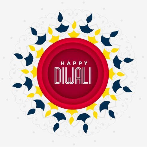 feestelijk groetontwerp voor gelukkige diwali