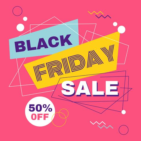 Black Friday Geometric Sale Banner vector