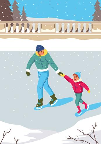 People Ice Skating - Download Free Vector Art, Stock Graphics & Images