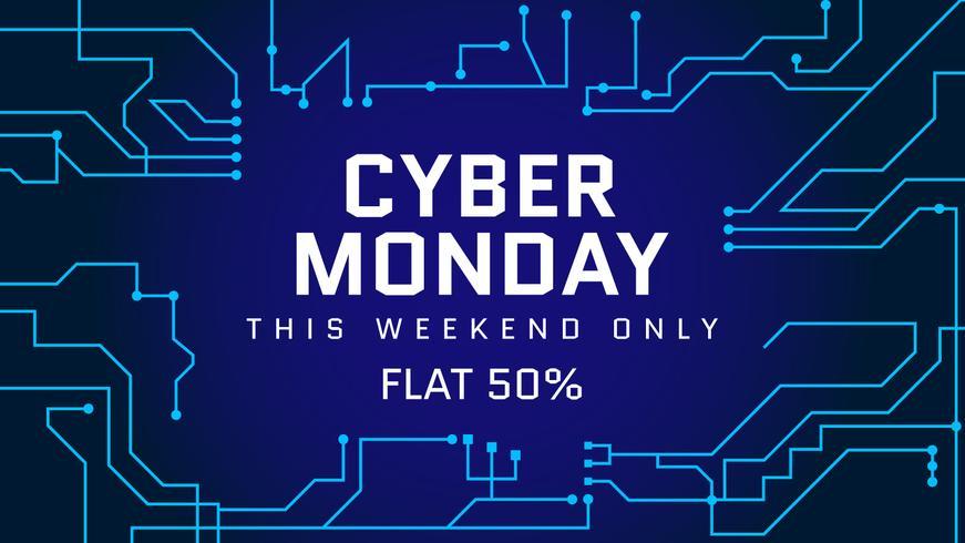 Funky Cyber Monday-Social-Media-Beitragsvektoren