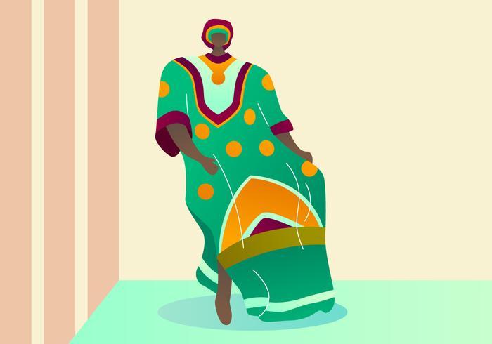 Beatiful Woman In Kaftan Vectors