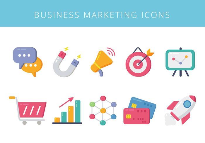 Icônes d'éléments marketing commerciaux