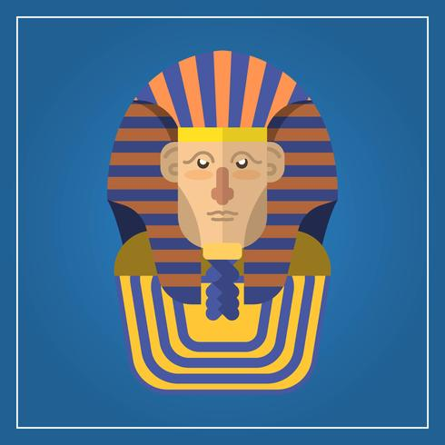 Flat Modern Pharaoh Character Vector Illustration