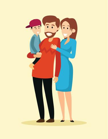 Ilustração de adoção familiar