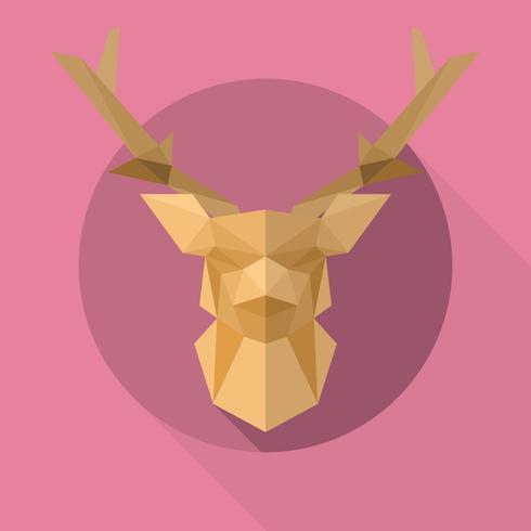 Flache geometrische einfache Form-Tier-Vektor-Illustration
