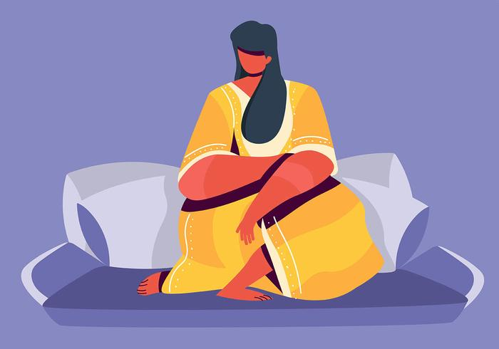 Mulher em Kaftan vetor