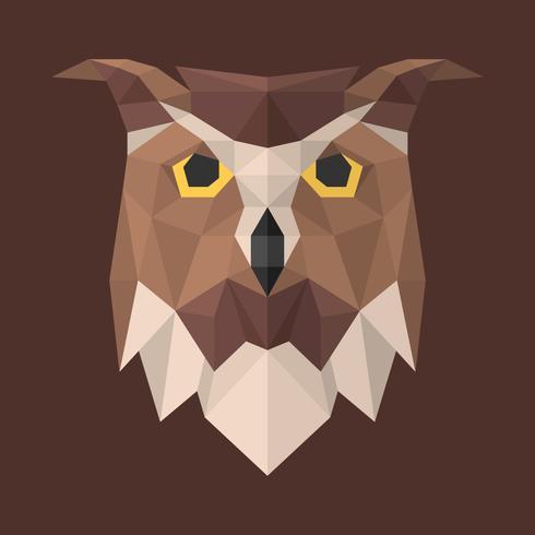 Owl Head Geometric Modern Illustration