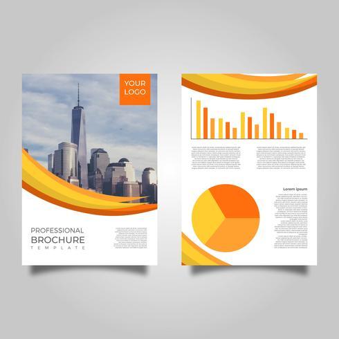 Plantilla moderna plana profesional del vector del folleto del negocio