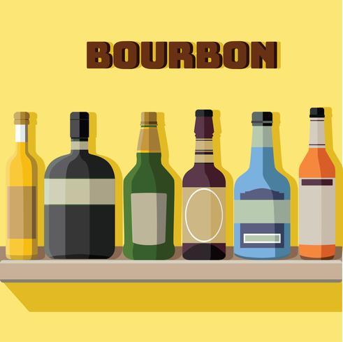 Design de vetor de garrafas de Bourbon
