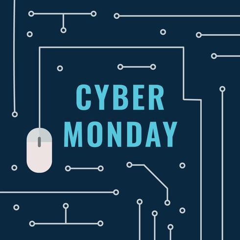Elektronische Cyber Monday Post