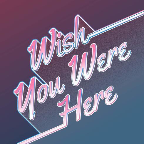 Desejo você estava aqui Lettering Card