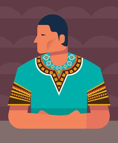 Man In Dashiki Illustration