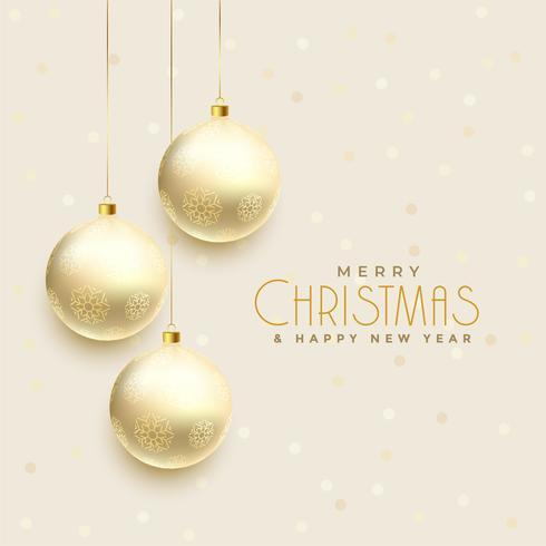 beautiful hanging christmas balls background