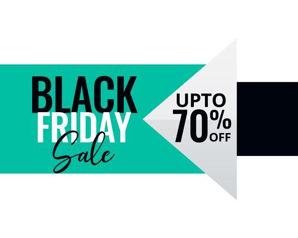 minimale stijl zwarte vrijdag verkoop banner