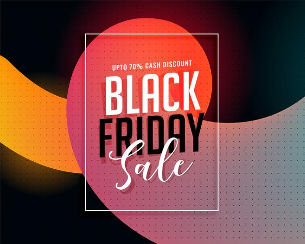 bannière de vente dynamique vendredi noir élégant