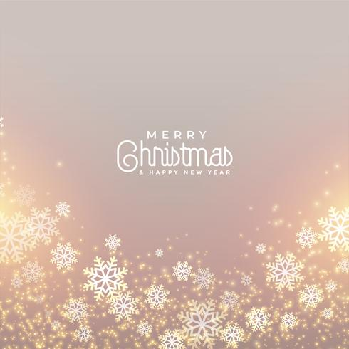 lovely merry christmas snowflakes greeting background