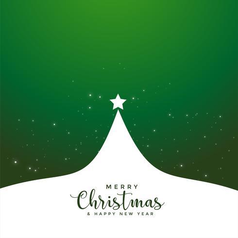 grüner fröhlicher Weihnachtsbaum-Plakatentwurf