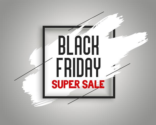 elegante venda de sexta-feira negra banner com respingo de tinta