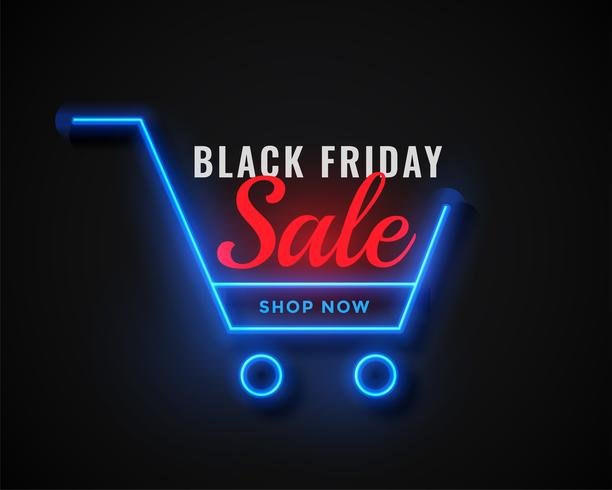 neon shopping cart black friday sale